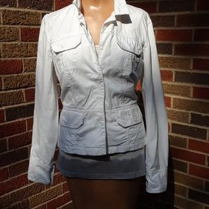 Newport News white denim jacket sz 10